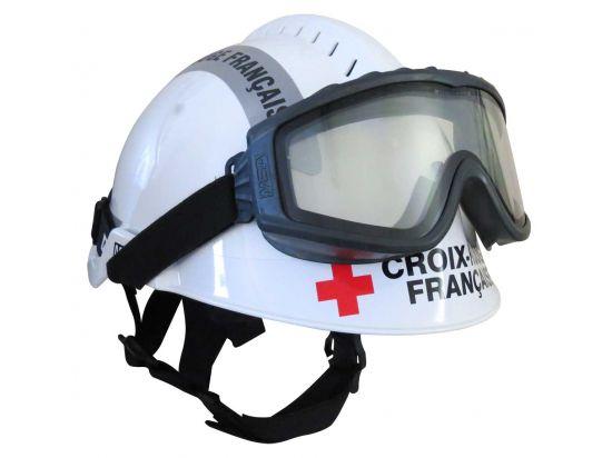 Casque F2 XTREM Forêts - Blanc Signalisation grise Croix Rouge Francaise