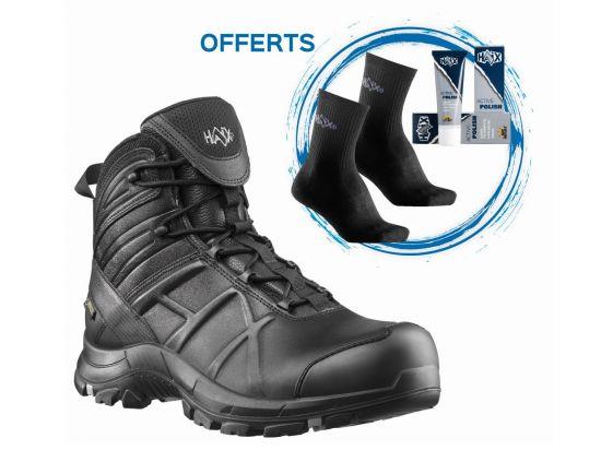 Rangers BLACK EAGLE SAFETY 50 MID + paire de chaussettes techniques et cirage d'entretien offerts