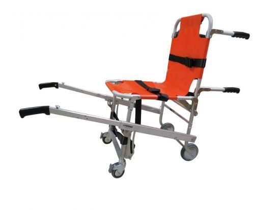 Chaise portoir pliante 4 roues S-242 Ferno avec anneaux pour harnais