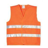 Gilet haute visibilité double ceinture orange