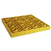 Jeu de 2 plaques jaunes Multiblox 40x40 cm pour désincarcération