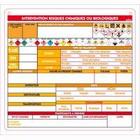 Planchette opérationnelle risques chimiques 26 x 28 cm