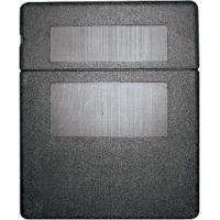 Boîte à registre noire PVC