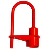 Cadenas pompier rouge pour clé triangle 14 mm
