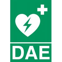 Panneaux de signalisation défibrillation DAE 20 x 30 cm en PVC